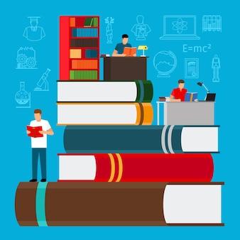 Educação e estudo, conceito de escola e universidade