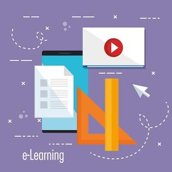 Educação eletrônica com smartphone