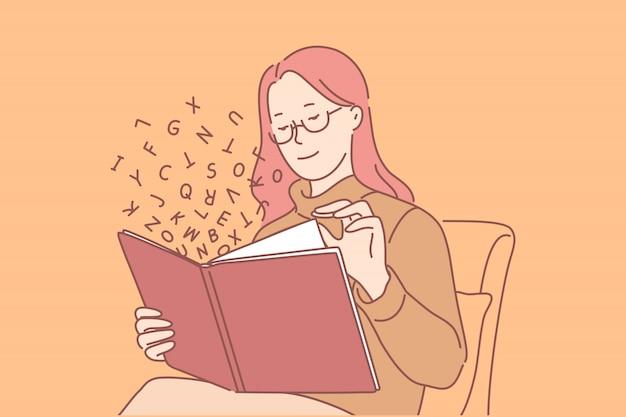 Educação, estudo, conhecimento, conceito