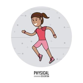 Educação física - menina executando design esportivo