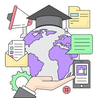 Educação linear ilustração