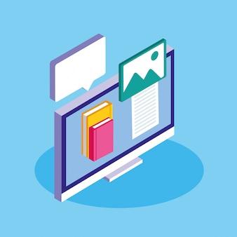 Educação on-line com desktop