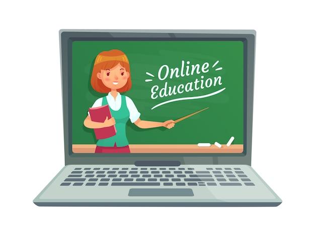 Educação on-line com professor pessoal