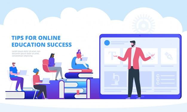 Educação on-line com seminário em vídeo