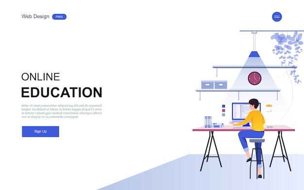 Educação on-line, treinamento e cursos, aprendizado.