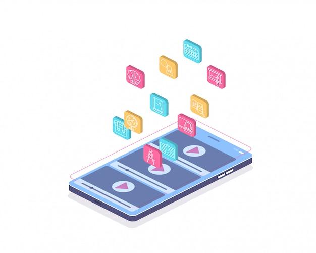 Educação on-line, treinamento em vídeo on-line