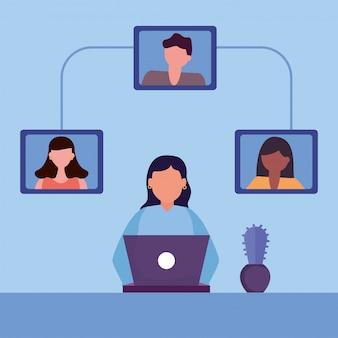 Educação online em casa com a comunidade de jovens estudantes