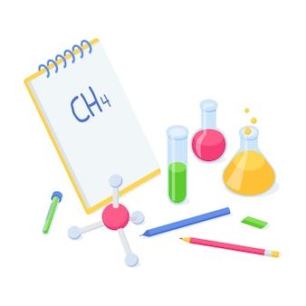 Educação química ou conceito isométrico de volta às aulas