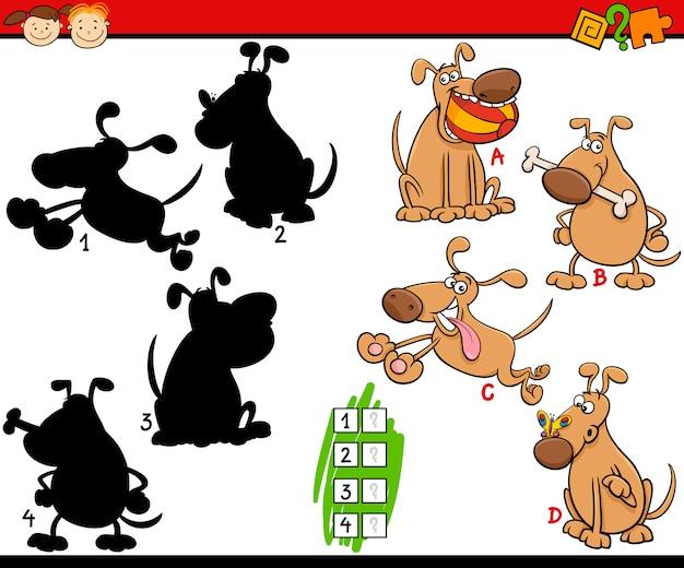 Educação sombras desenhos animados do jogo