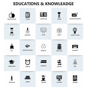 Educações e conhecimento ícone bandeira