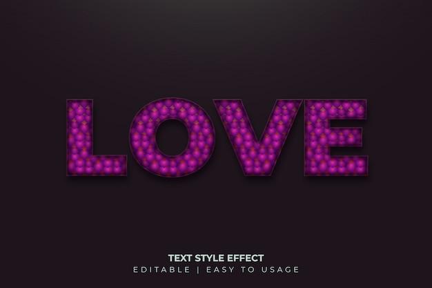 Efeito 3d de estilo de texto em negrito com estilo de padrão de balões realistas