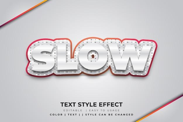 Efeito 3d de estilo de texto em negrito prateado com bordas vermelhas e textura de pontos