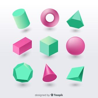 Efeito 3d de formas geométricas