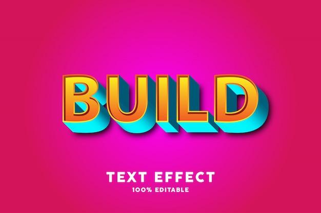Efeito 3d de texto azul amarelo