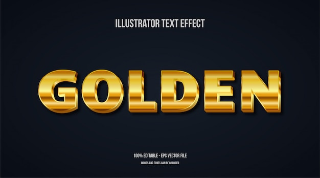 Efeito 3d de texto dourado