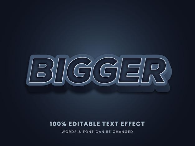 Efeito 3d de texto editável completo maior