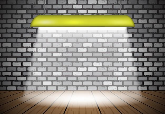 Efeito 3d ficar iluminação lâmpada fundo abstrato