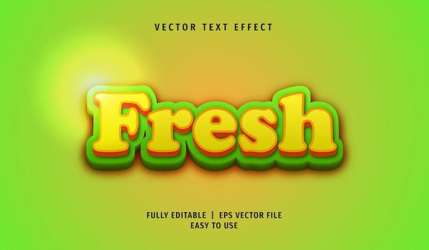 Efeito 3d fresh text, estilo de texto editável