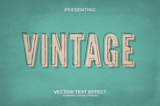 Efeito 3d retro texto editável com textura grunge