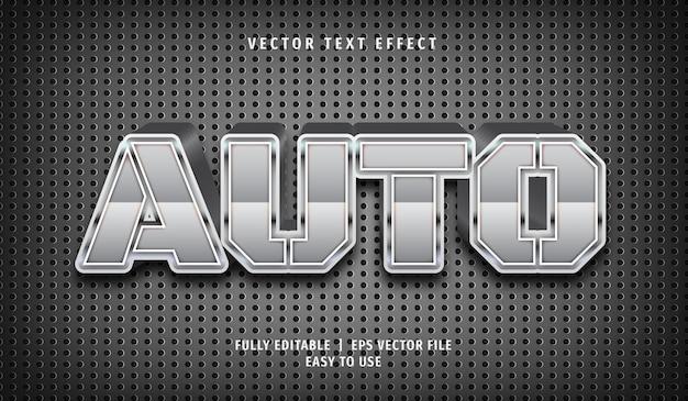 Efeito 3d silver auto text, estilo de texto editável