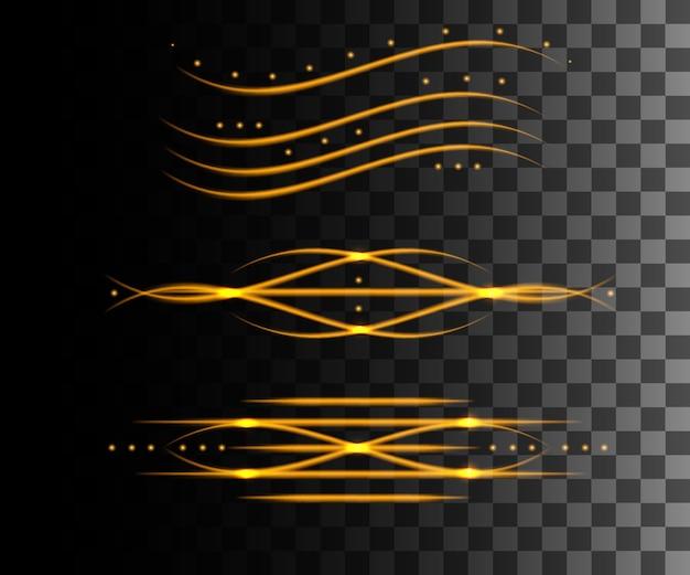 Efeito abstrato de linha brilhante.