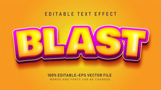Efeito blast text
