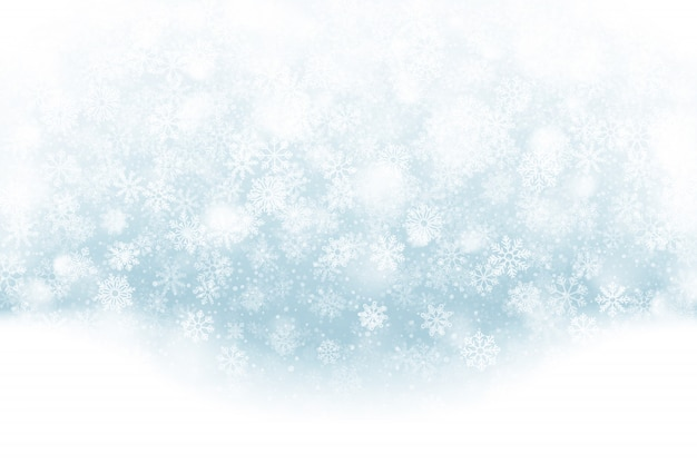 Efeito claro de neve caindo de natal