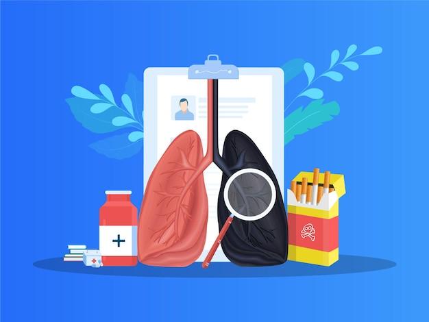 Efeito colateral do tabagismo e doença
