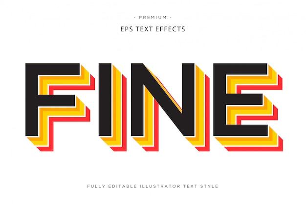 Efeito colorido 3d ext efeito estilo de texto 3d