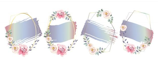 Efeito de aquarela gradiente roxo para decoração de casamento