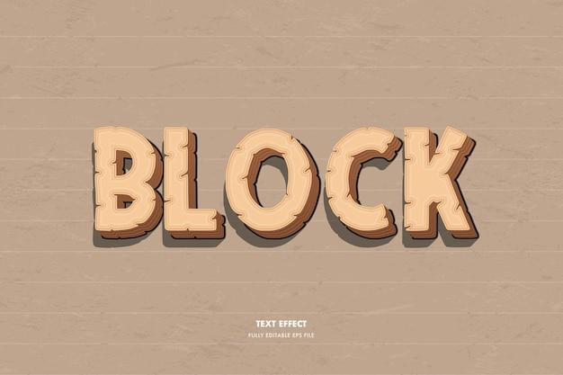 Efeito de bloco de texto
