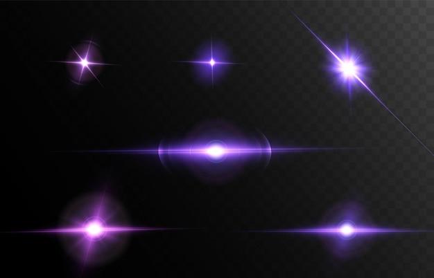 Efeito de brilho com muitas partículas brilhando em um fundo preto.