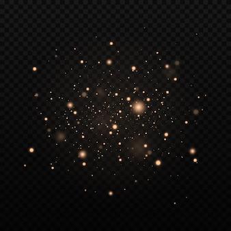 Efeito de brilho de partículas no preto
