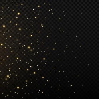 Efeito de brilho do fundo de partículas