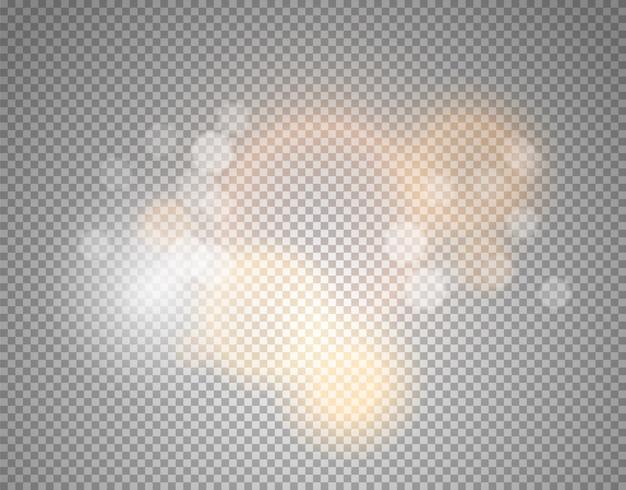 Efeito de brilho isolado em transparente