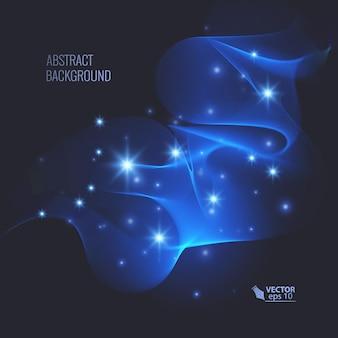 Efeito de brilho mágico em fundo escuro para seu projeto, efeito abstrato.