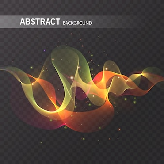 Efeito de brilho mágico em fundo transparente para seu projeto, efeito abstrato colorido.