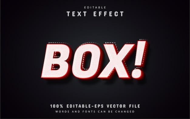 Efeito de caixa de texto editável