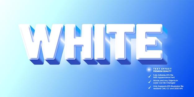 Efeito de chiqueiro de texto branco 3d