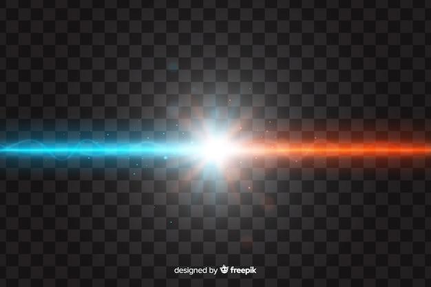 Efeito de colisão de duas luzes realistas