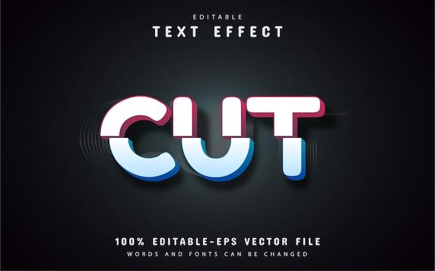 Efeito de corte de texto editável