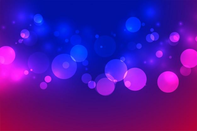 Efeito de design de fundo de luzes de néon vibrante bokeh