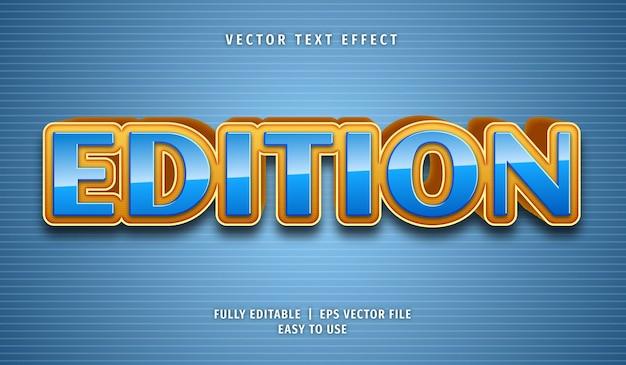 Efeito de edição de texto, estilo de texto editável