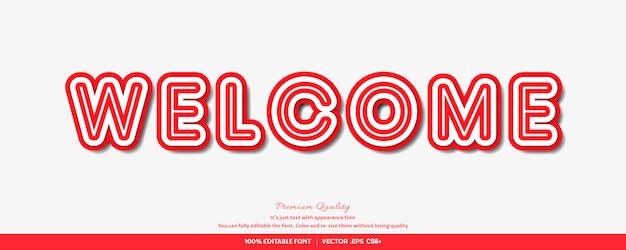 Efeito de estilo de fonte 3d em negrito vermelho