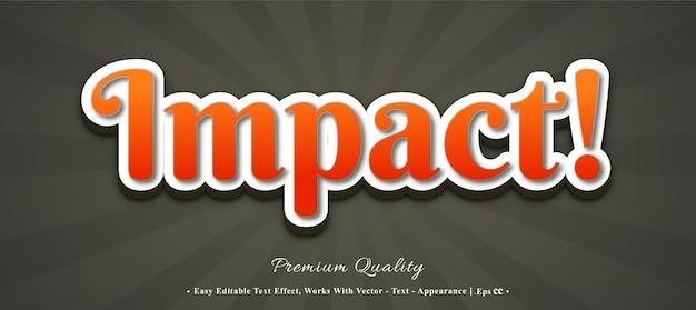 Efeito de estilo de fonte de impacto