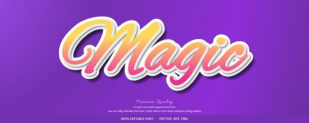 Efeito de estilo de fonte mágica 3d