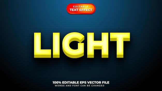 Efeito de estilo de texto 3d claro