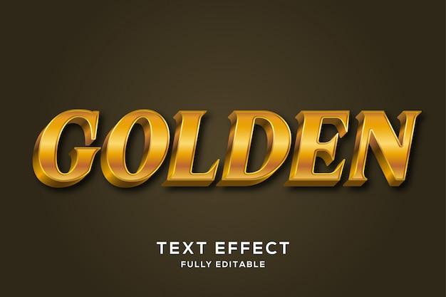 Efeito de estilo de texto 3d de luxo real ouro