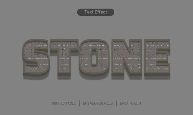 Efeito de estilo de texto 3d de pedra