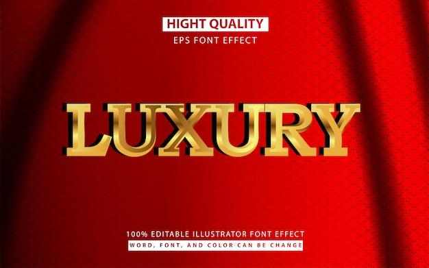 Efeito de estilo de texto 3d dourado de luxo